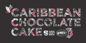 SIREN carib choc cake banner