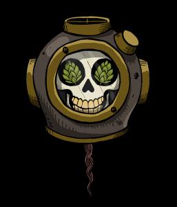 WEIRD BEARD mariana trench - skull