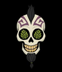 WEIRD BEARD skull - fade to black
