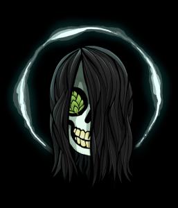 WEIRD BEARD skull - sadako