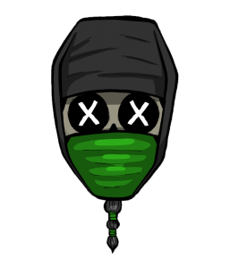 WEIRD BEARD skull - trad spreadsheet ninja copy