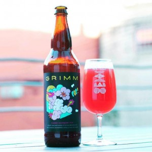 GRIMM cherry raspberry pop bottle