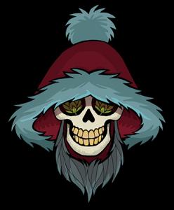 WEIRD BEARD skull - SANTA web