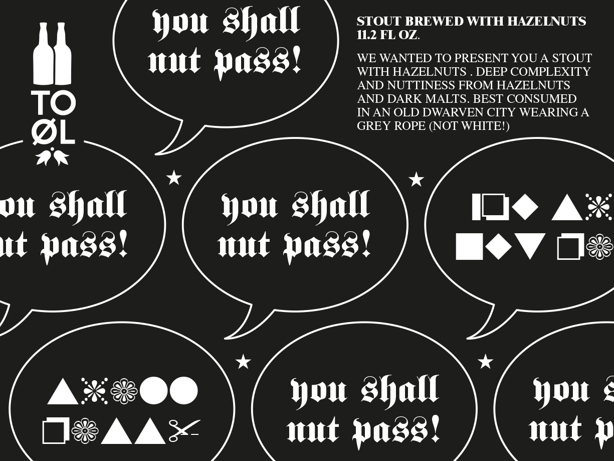 TO OL you shall nut pass