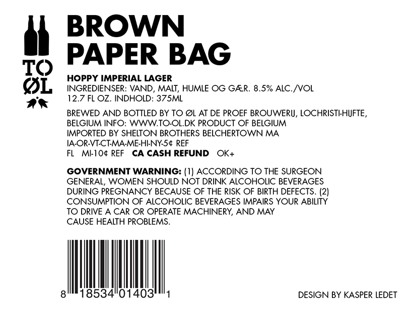 TO OL brown paper bag